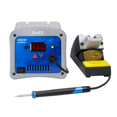 ADS200 AccuDrive® Production Soldering Station with TD-200 Tip-Heater Cartridge Iron & Instant SetBack Tool Stand